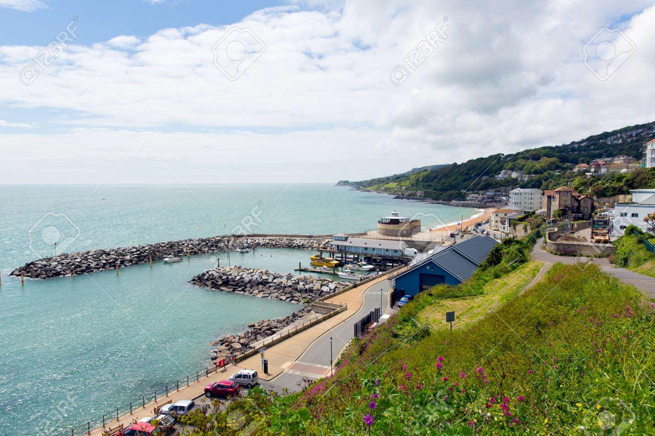 Cote Sud Angleterre ventnor île de wight côte sud de l'île ville touristique angleterre
