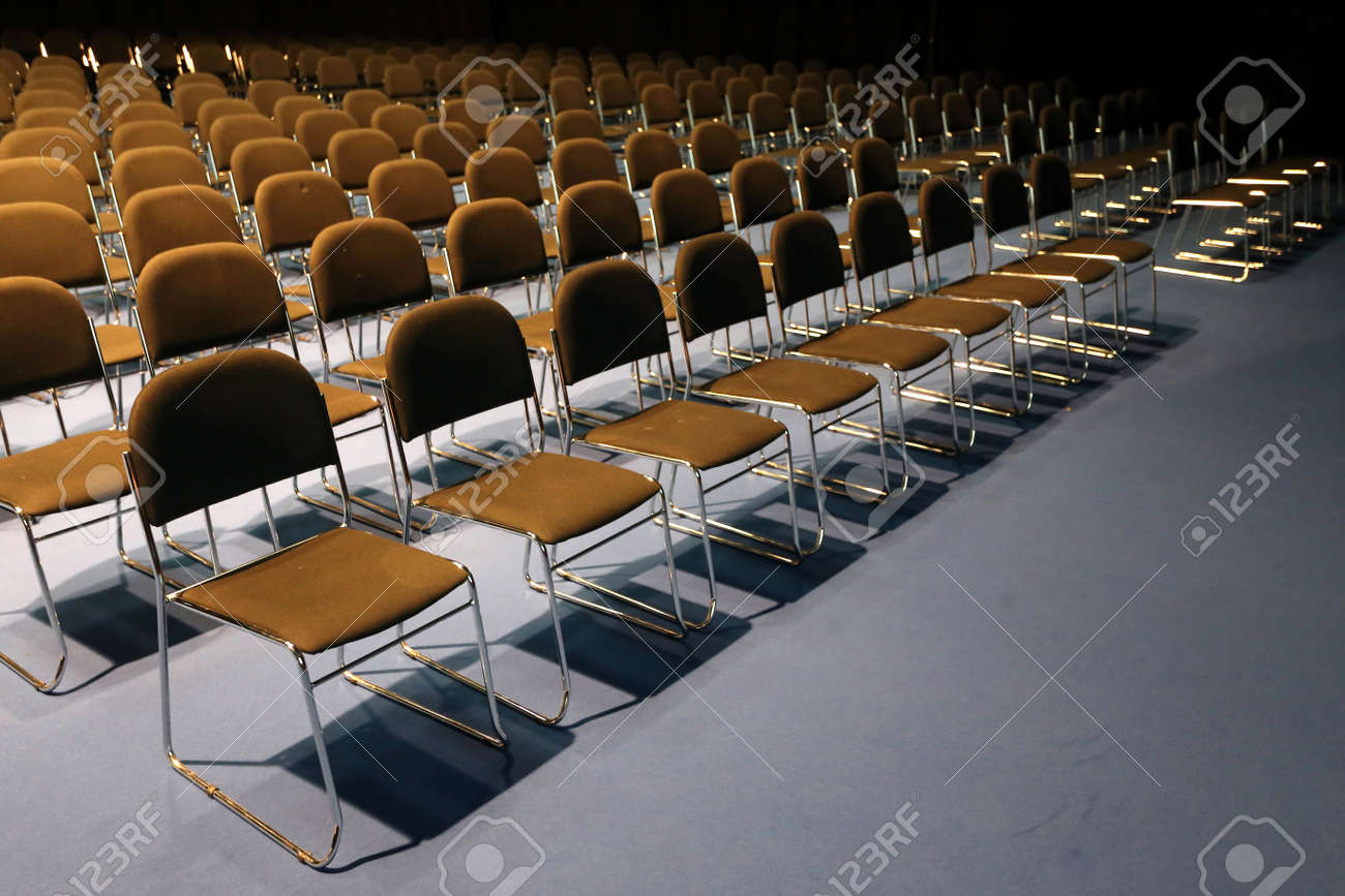 Empty chair in room - Big Conference Room Full Of Empty Seats Stock Photo 46625587
