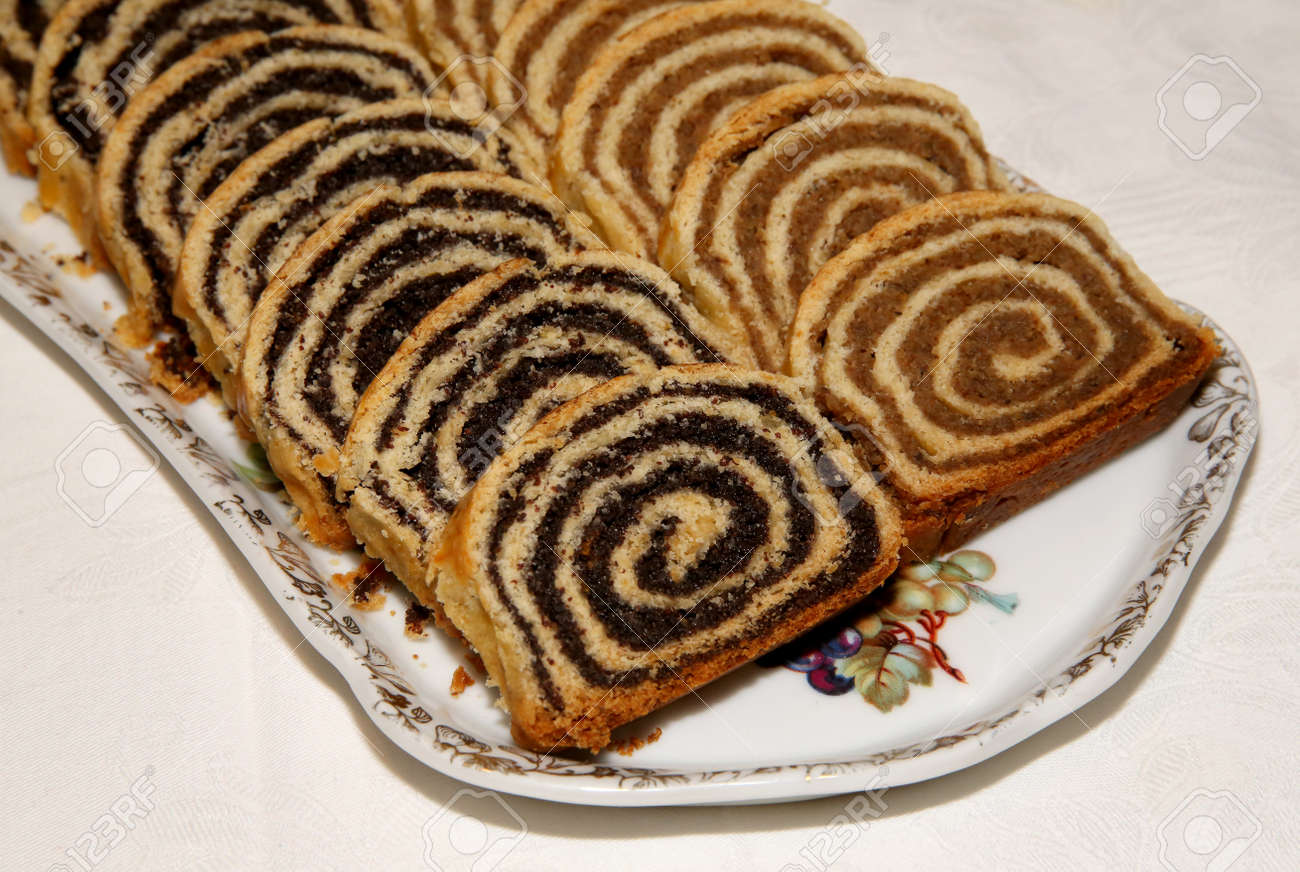 Beigli Is The Famous Traditional Hungarian Christmas Cake Stock ...