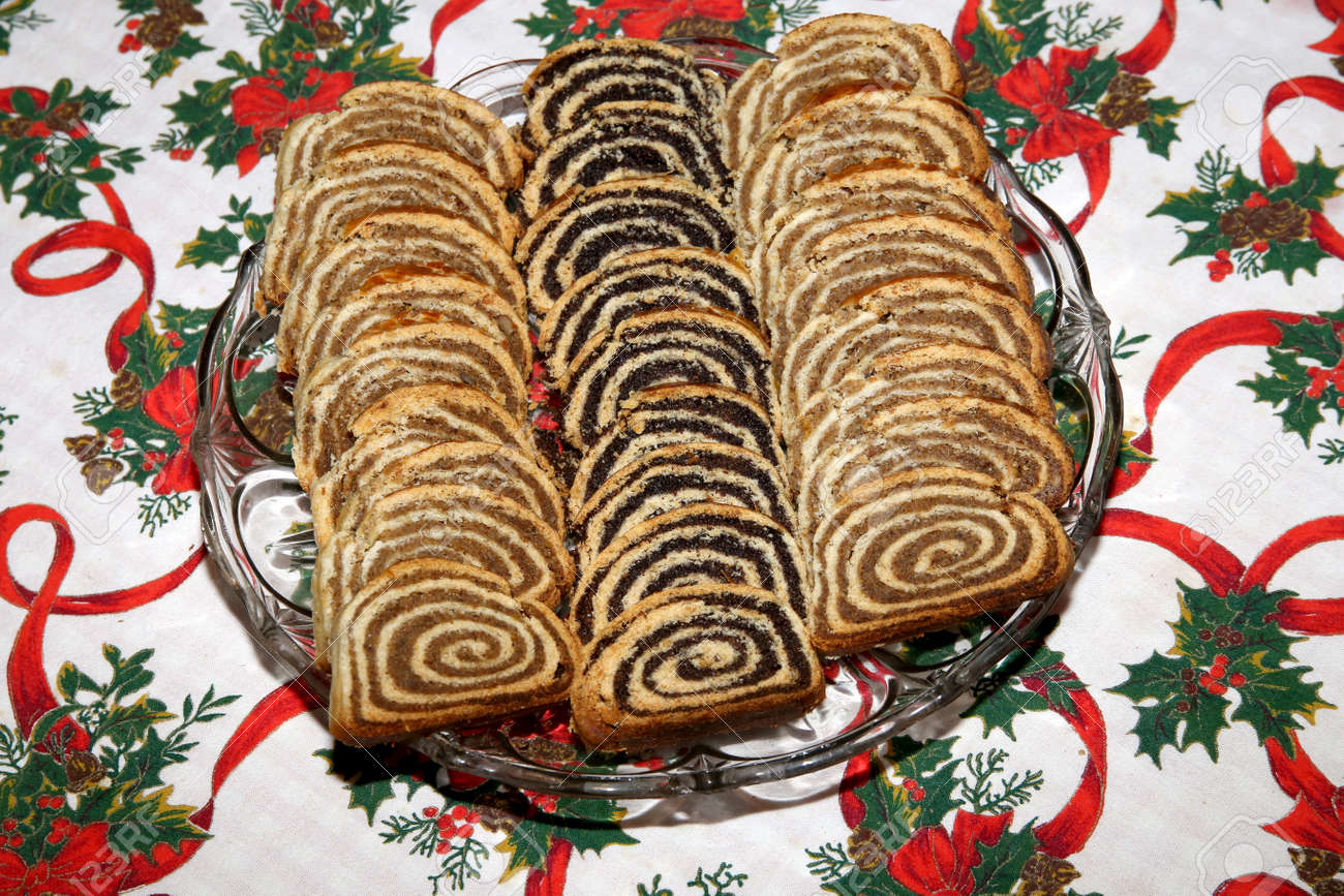 Hungarian Christmas Traditions.Beigli Is The Famous Traditional Hungarian Christmas Cake