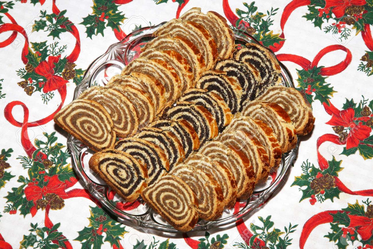 Hungarian Christmas Traditions.Homemade Traditional Hungarian Christmas Cake