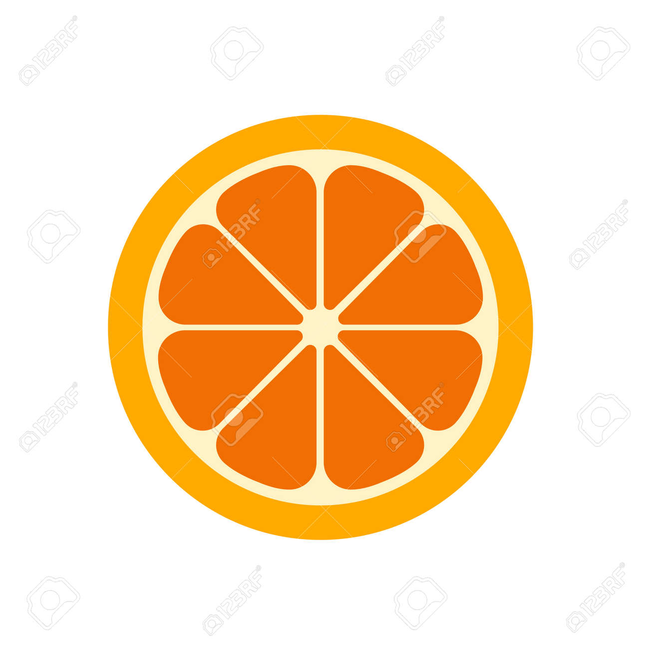 Orange slice vector illustration