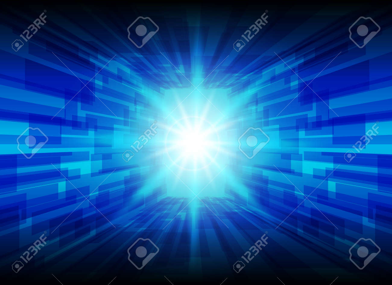 High Tech Blue Line Background, Abstract Technology Background, Vector  Illustration Background. Stock