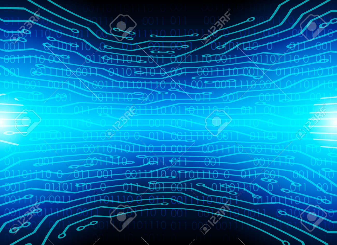 High Tech Circuit Board Background, Abstract Technology Background, Vector  Illustration Background. Stock
