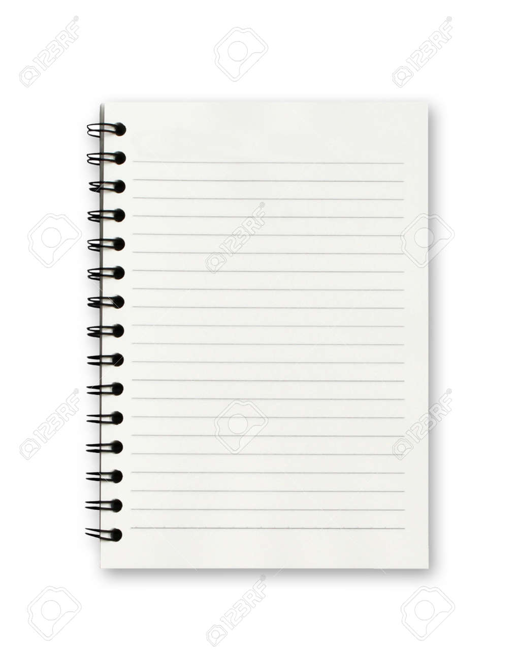 Blank notebook on white background. - 131441584