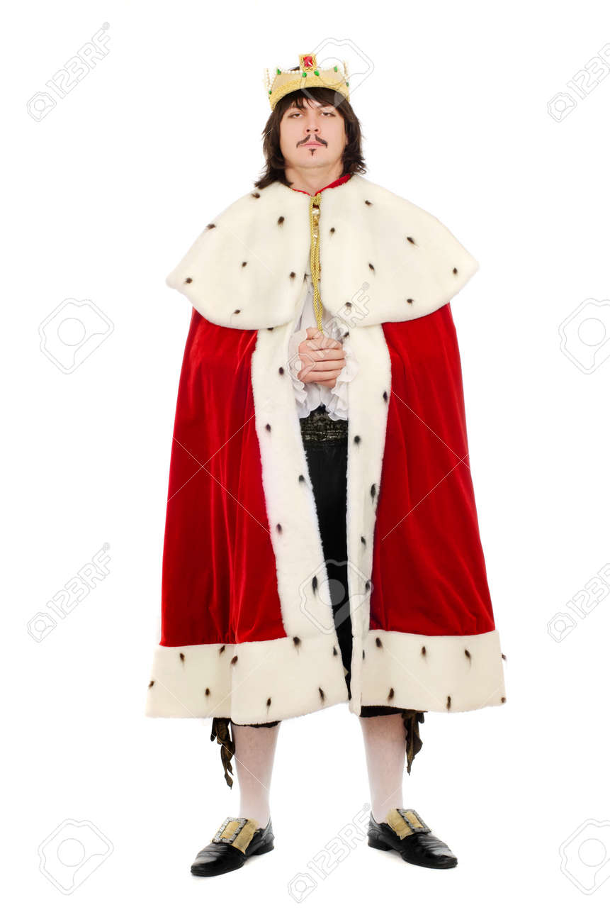 Young man in the royal costume. Isolated on white background Stock Photo - 17156242