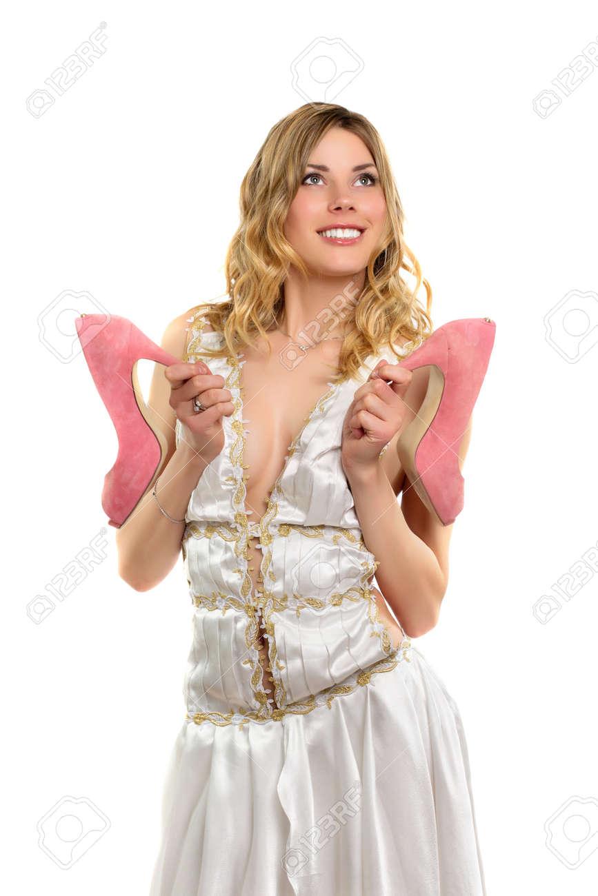 Kleid zu rosa schuhen
