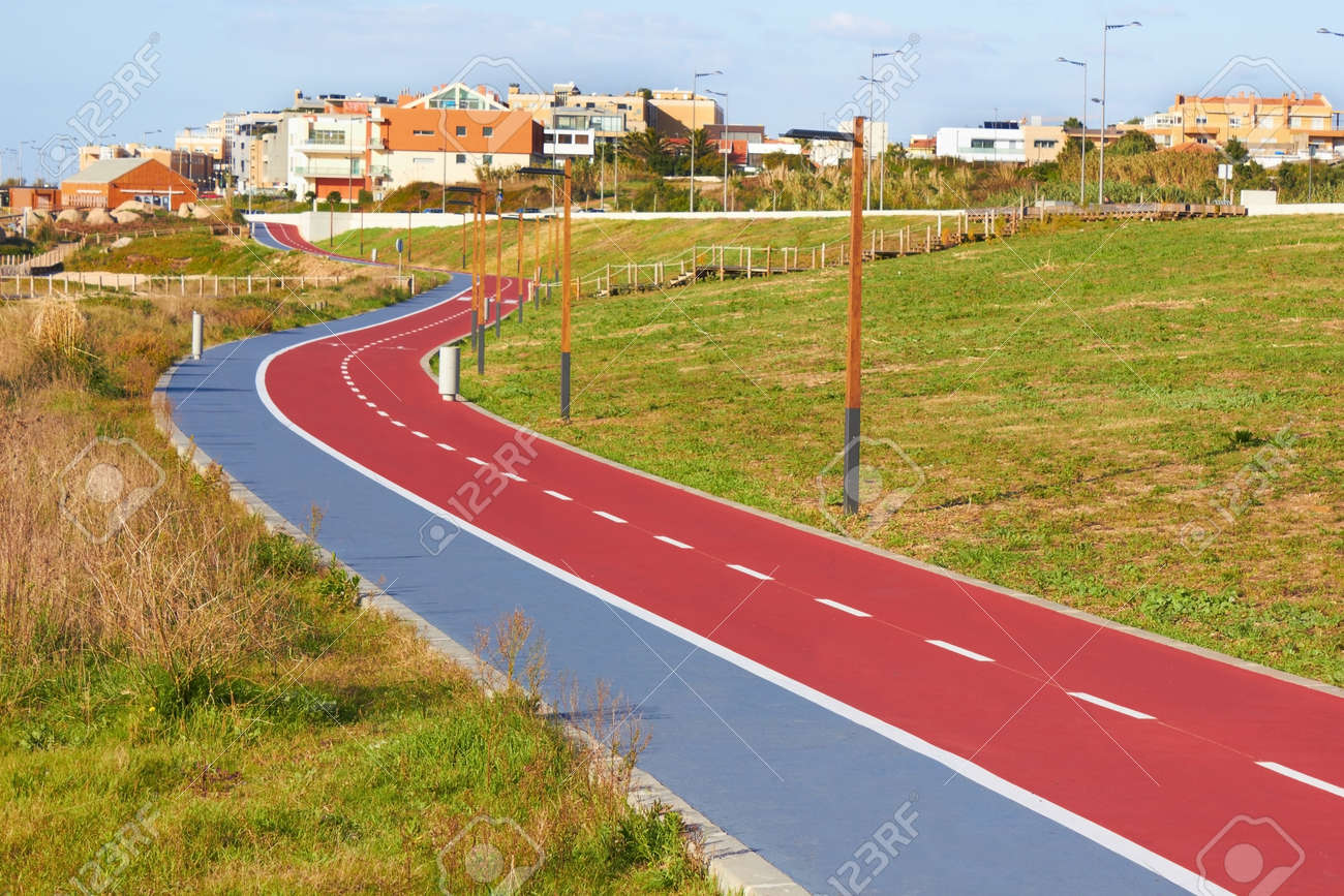 bikers lane sign on the asphalt ground Stock Photo - 18156844
