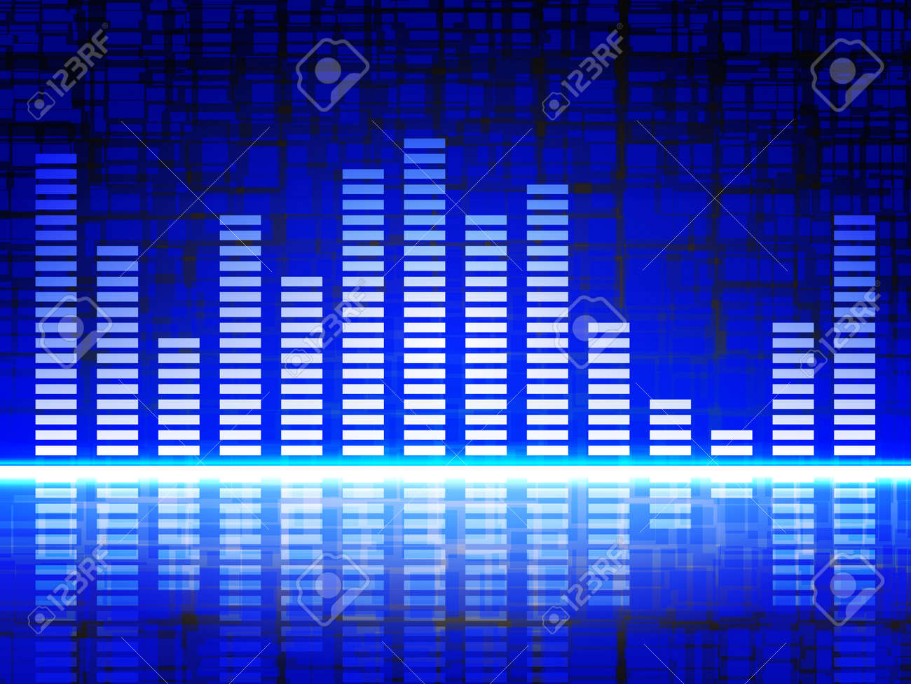 Equalizer Display, abstract digital sound Stock Vector - 20426952