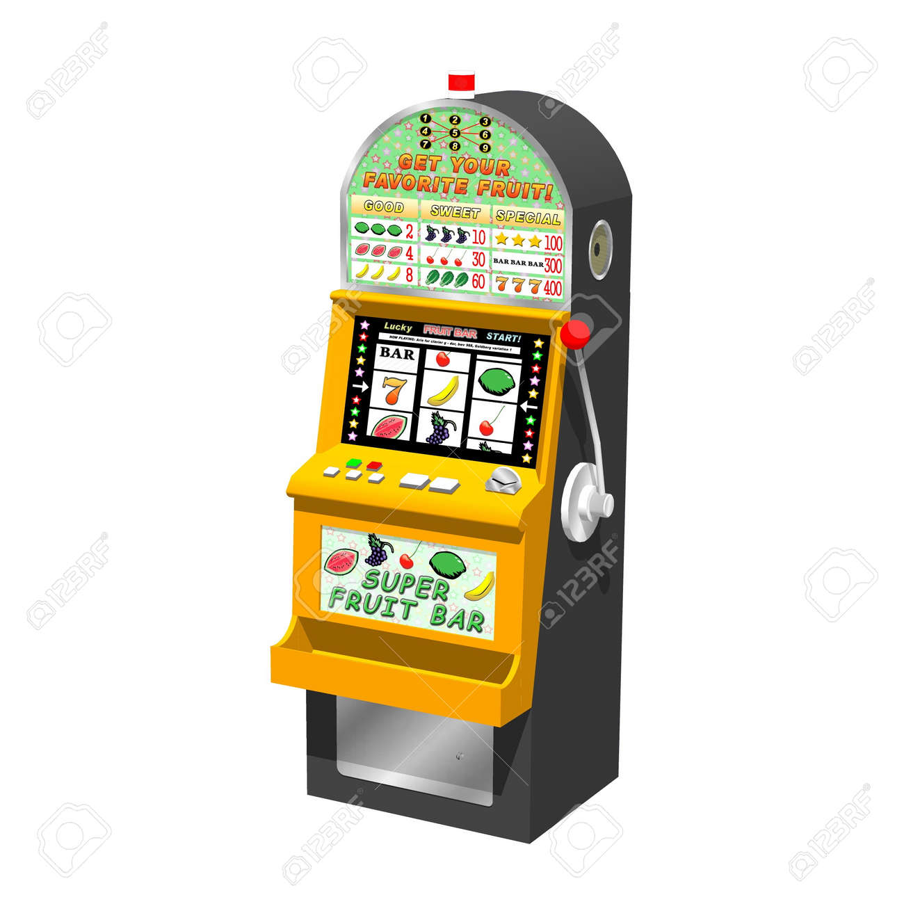 04f781962df8 3D Slot Machine Traditional Type Stock Photo, Picture And Royalty ...
