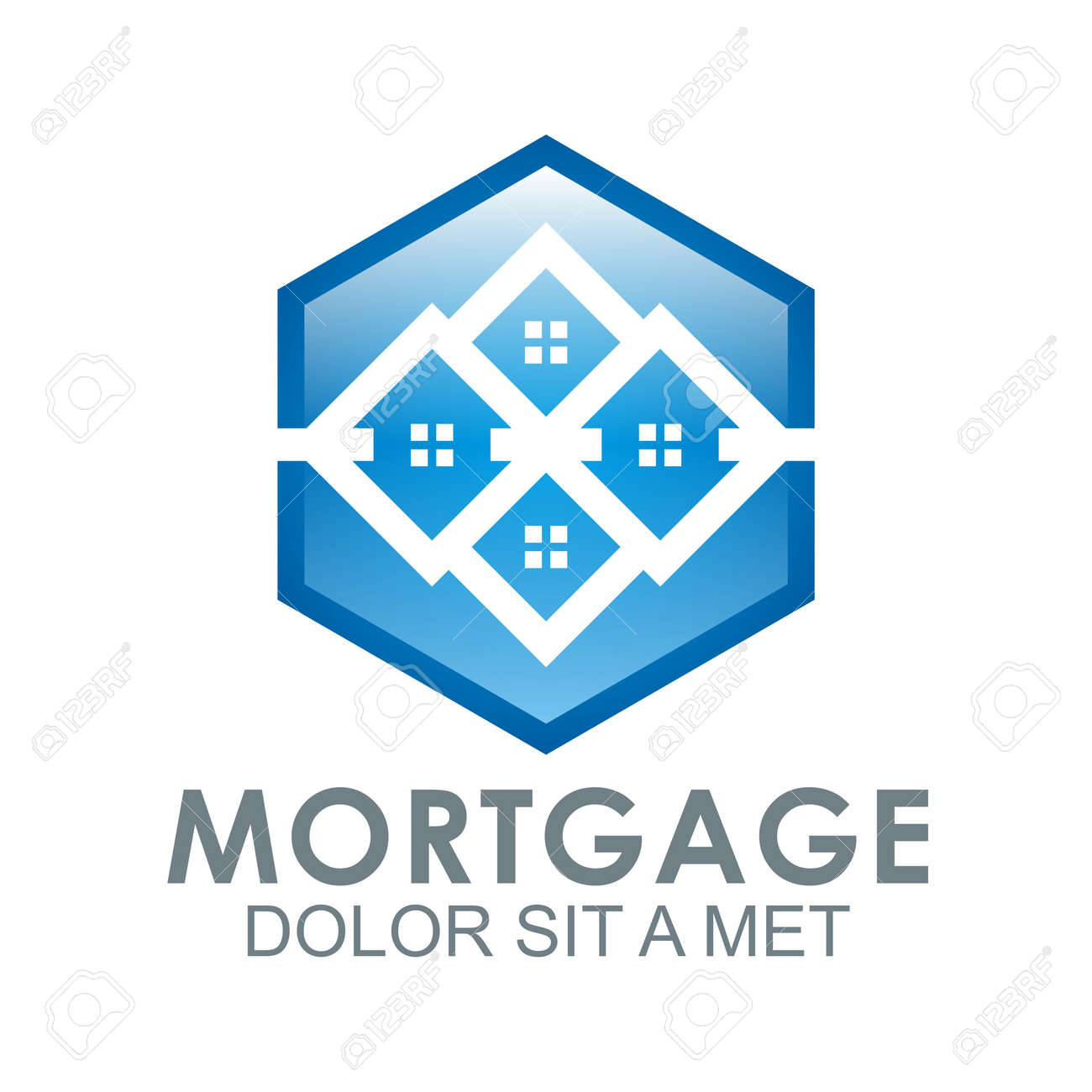 不動産住宅ローン ホーム カード イラスト建設会社のロゴ ロイヤリティ