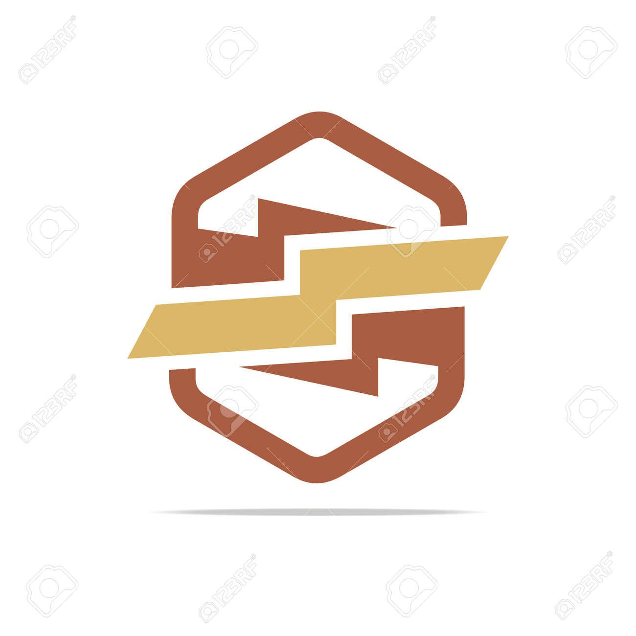 Logo Elektrizität Kraft Icon Design Symbol Abstrakt Lizenzfrei ...