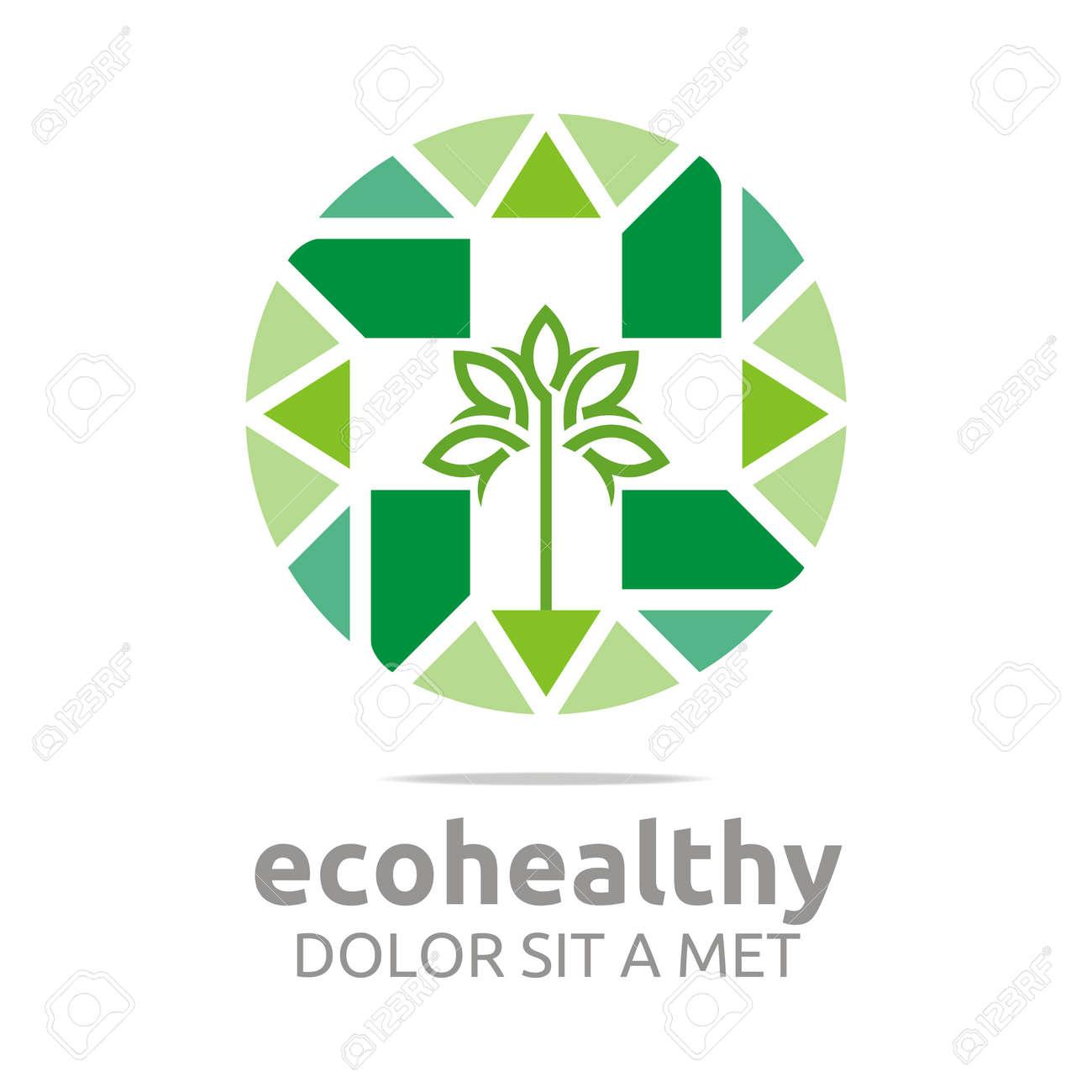 Abstract Logo Ecohealthy Leaves Go Green Design Vector