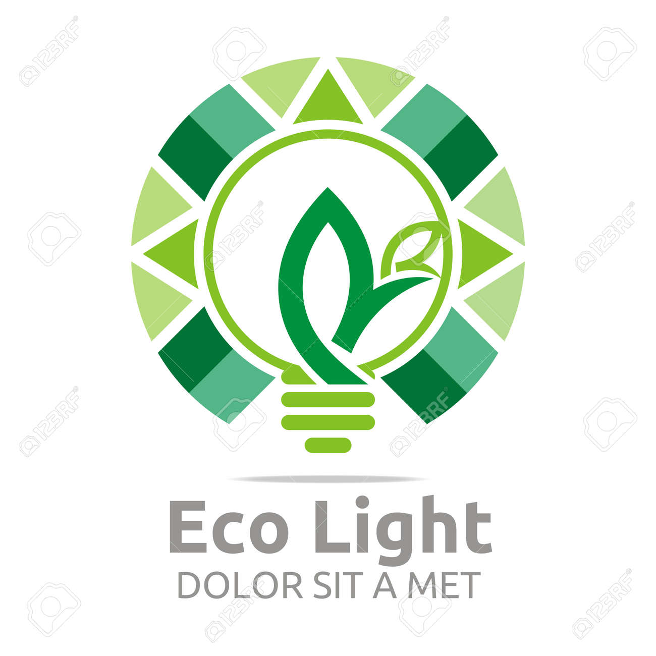 Abstract Logo Lamp Eco Light Bulb Design Icon Vector Royalty Free ... for Green Light Bulb Logo  67qdu