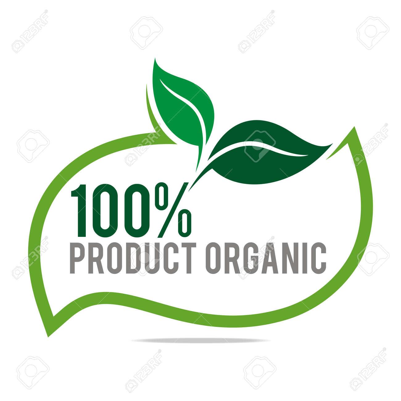 logo natural product organic healthy garden design vector royalty