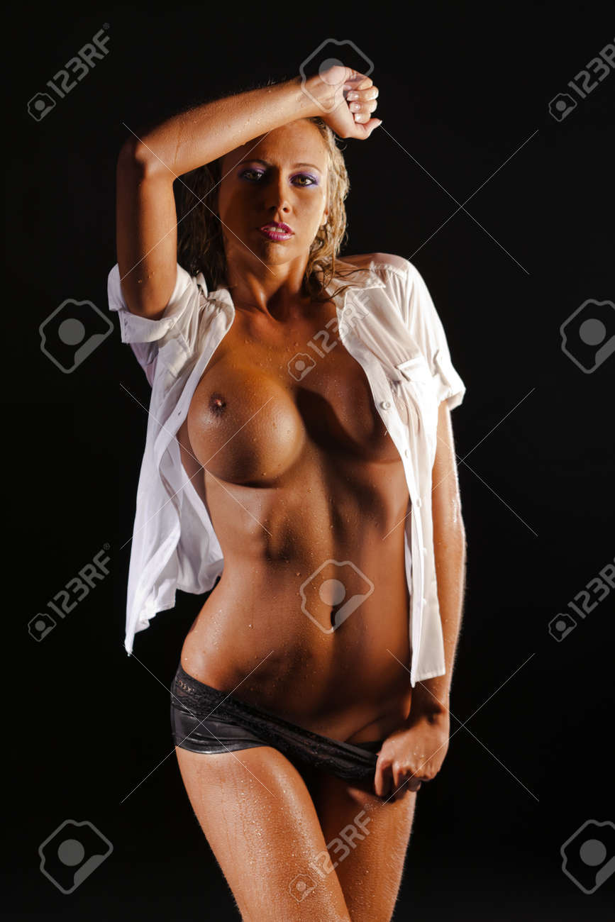A blond model in the studio showing nude body Stock Photo - 11733749
