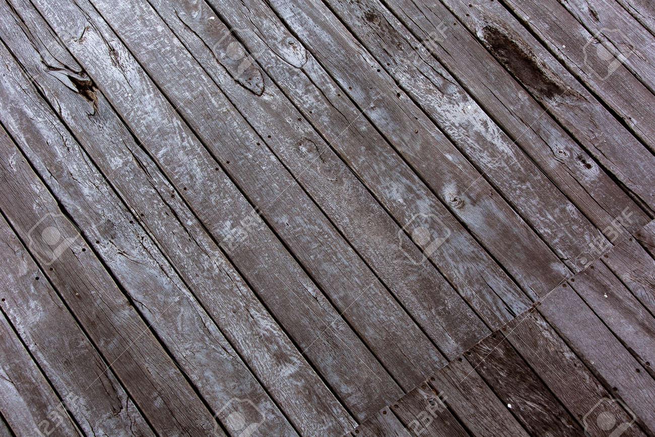 Bois Pour Terrasse Extérieure porté, planches de bois âgés sur une terrasse extérieure