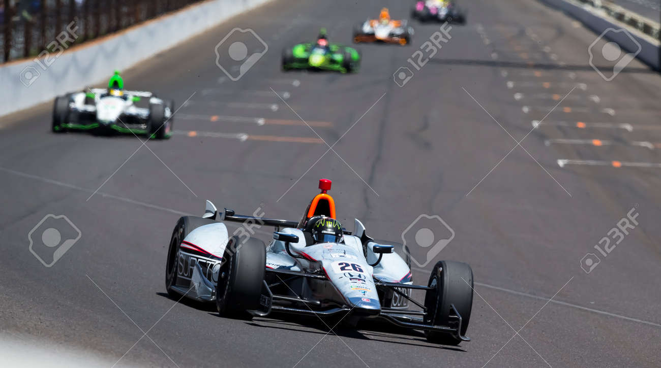 Indianapolis, IN - May 25, 2014: NASCAR driver, Kurt Busch (26), runs the 98th annual Indianapolis 500 at the Indianapolis Motor Speedway in Indianapolis, IN. - 28576011