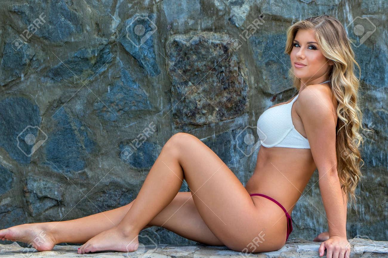 Free blonde bikini pics, Female masturbation photos
