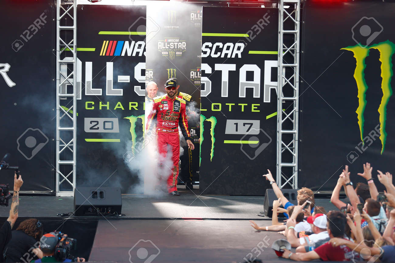 May 20, 2017 - Concord, NC, USA: Martin Truex Jr  (78) gets introduced