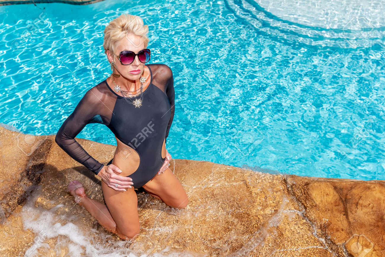 Blonde mature pool