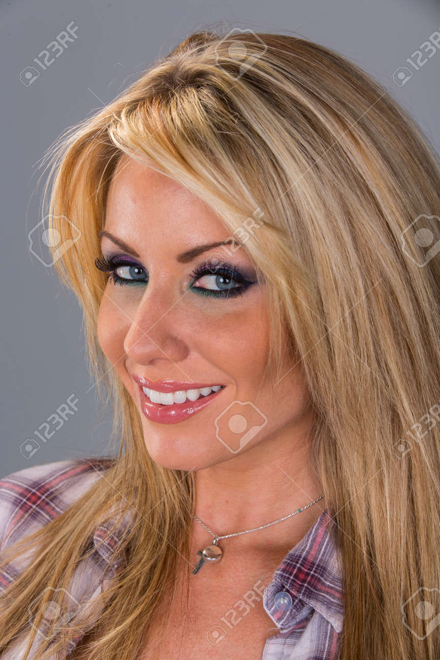 An Attractive Blonde Model In A Studio Environment Wearing Country Stock Photo Picture And Royalty Free Image Image 117532512