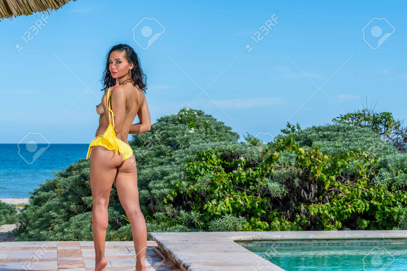 Naked girls on cancun beach A Beautiful Mexican Female Model Poses In The Yucata N Peninsula Near Merida Mexico Stock Photo Picture And Royalty Free Image Image 141260892