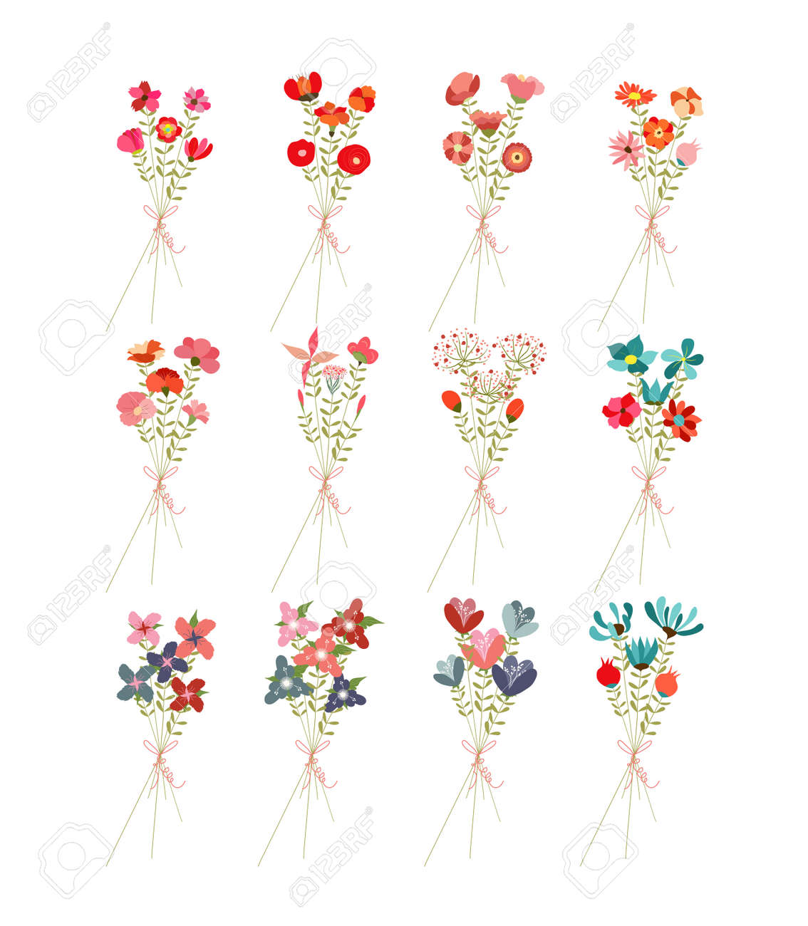 Flower Bouquets Clip Art Royalty Free Cliparts Vectors And Stock