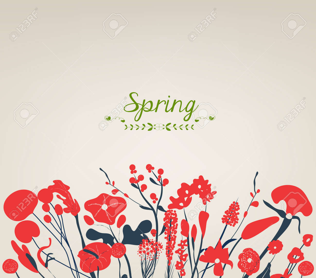 Happy spring flower background vintage