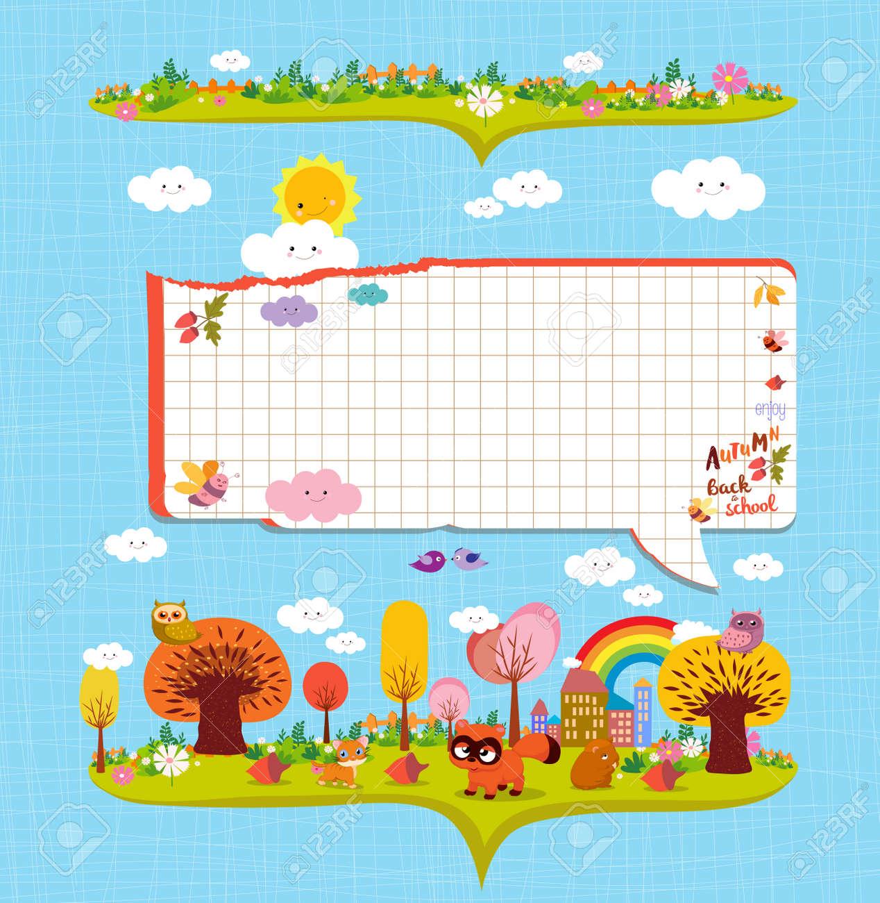 Hallo Herbst. Design-Elemente Für Notebooks. Hinweis Papiere ...