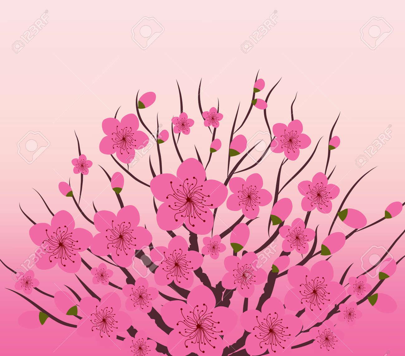 中国の旧正月の梅の花の背景のイラスト素材ベクタ Image 48142082