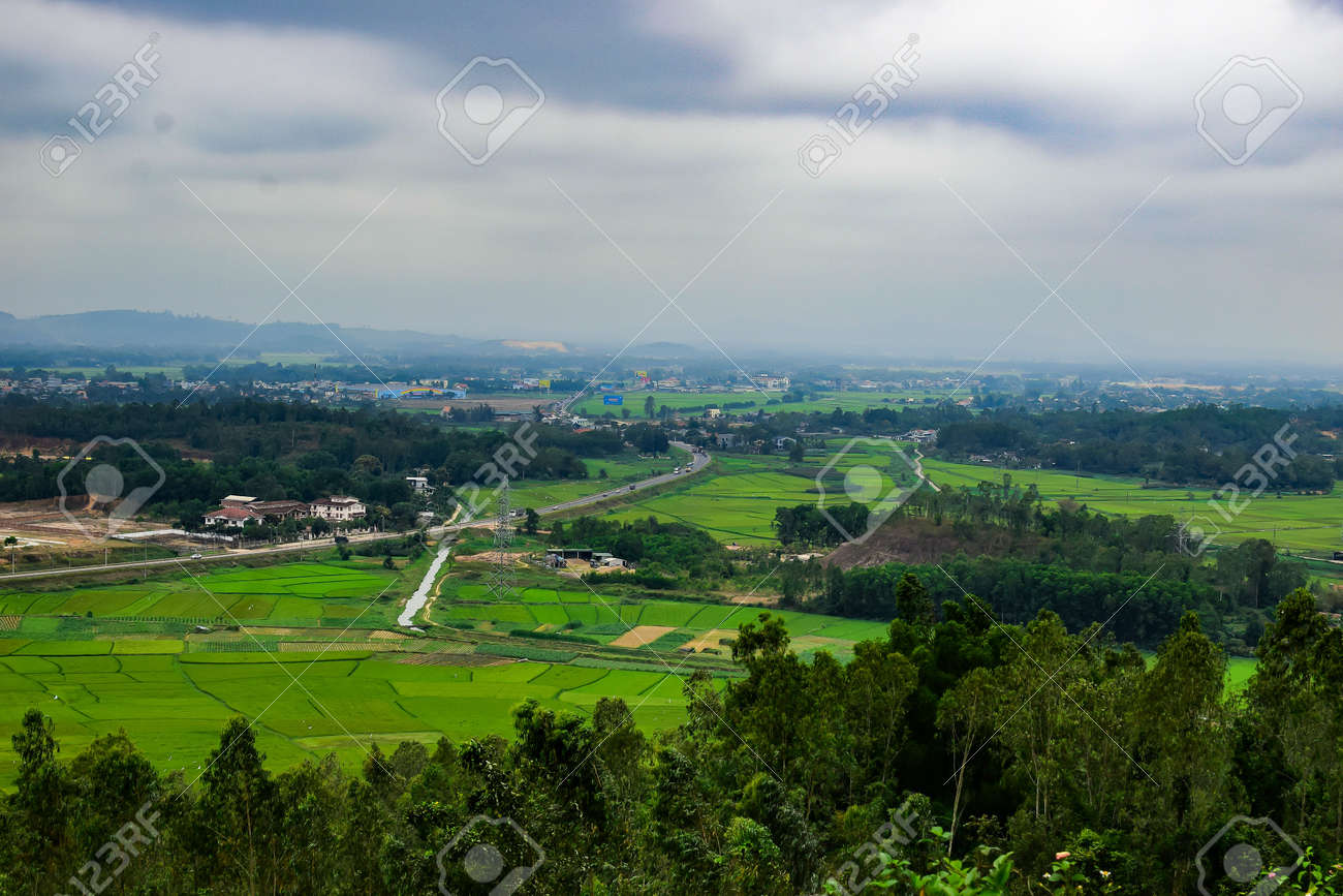 Green Terraced Rice Field In Quang Ngai Vietnam Stock Photo Picture And Royalty Free Image Image 54526110