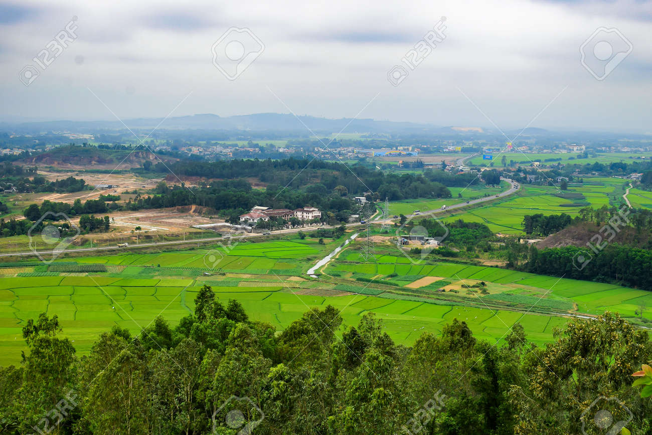 Green Terraced Rice Field In Quang Ngai Vietnam Stock Photo Picture And Royalty Free Image Image 54526051