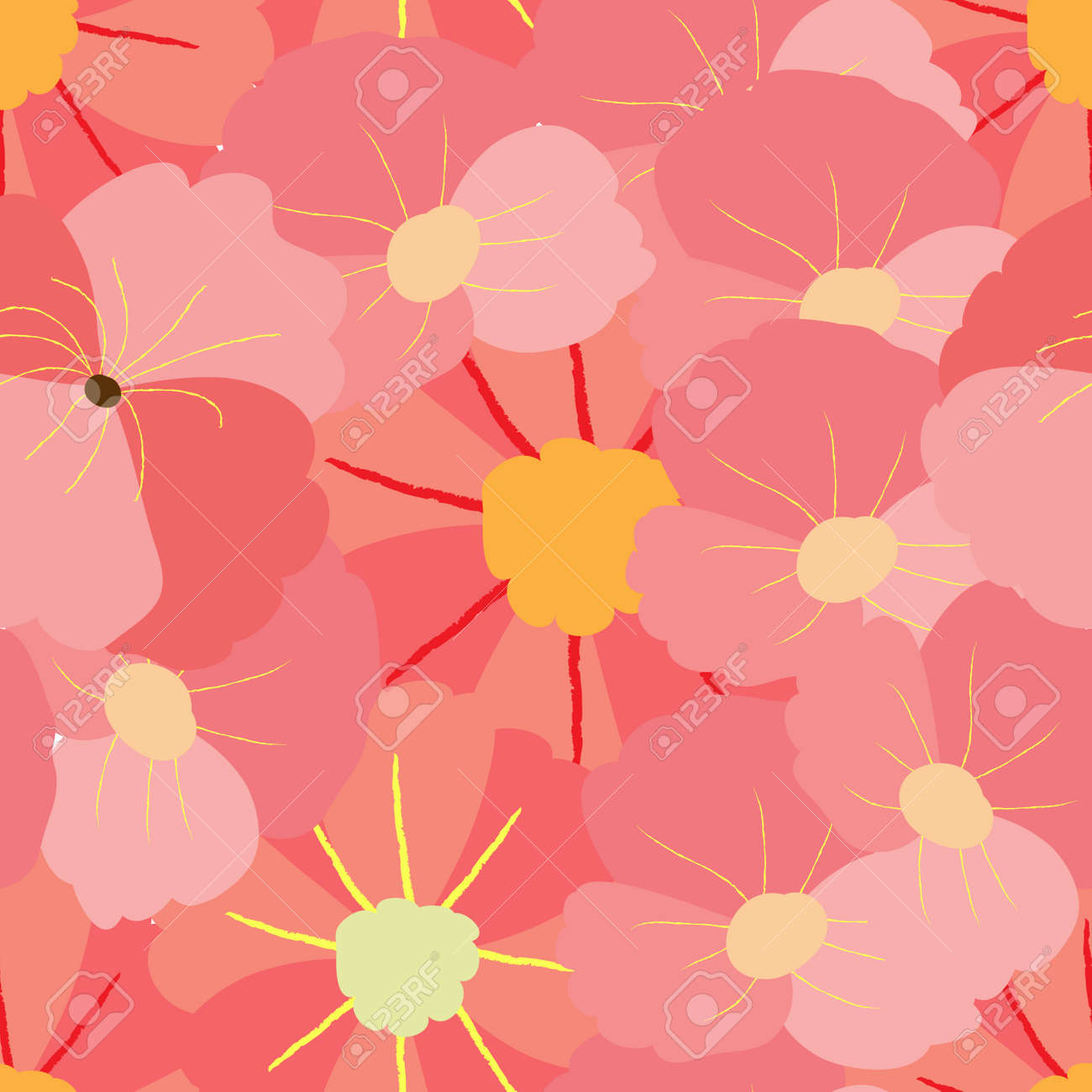 Spring Flowers Backgrounds Seamless Floral Pattern Royalty Free
