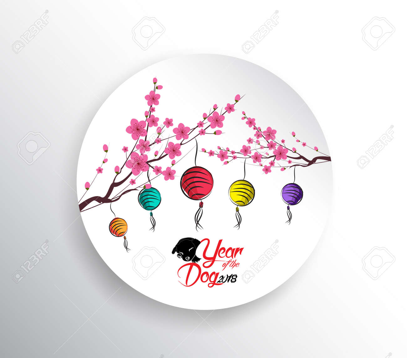 Happy chinese new year 2018 seasons greetings lantern design seasons greetings lantern design year of the dog kristyandbryce Image collections