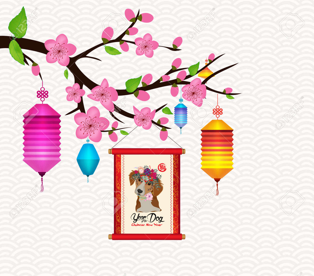 happy new year 2018 blossom greeting card chinese new year of rh 123rf com  happy chinese new year clip art free