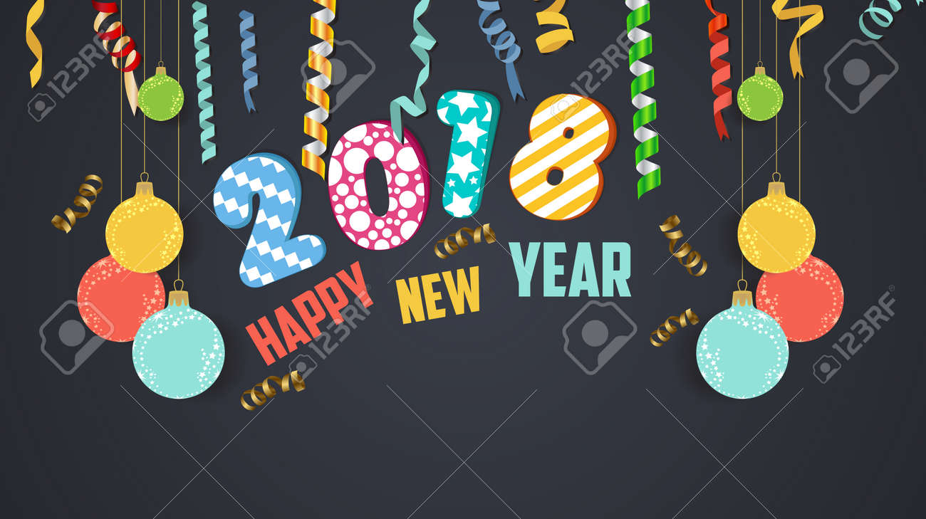 2018 happy new year banner stock vector 85905406