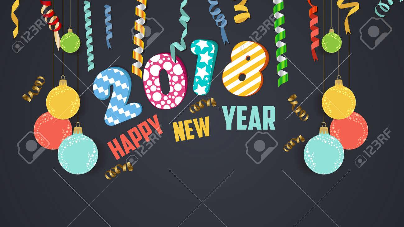 2018 happy new year banner stock vector 85905406