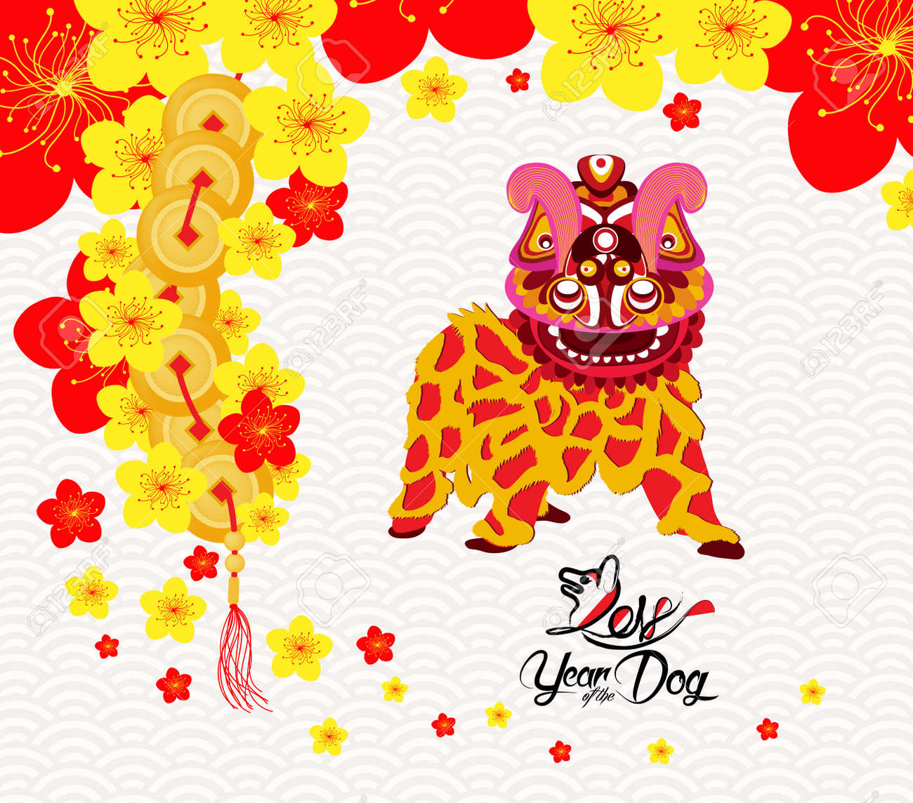 Image result for lion dance in year of dog images