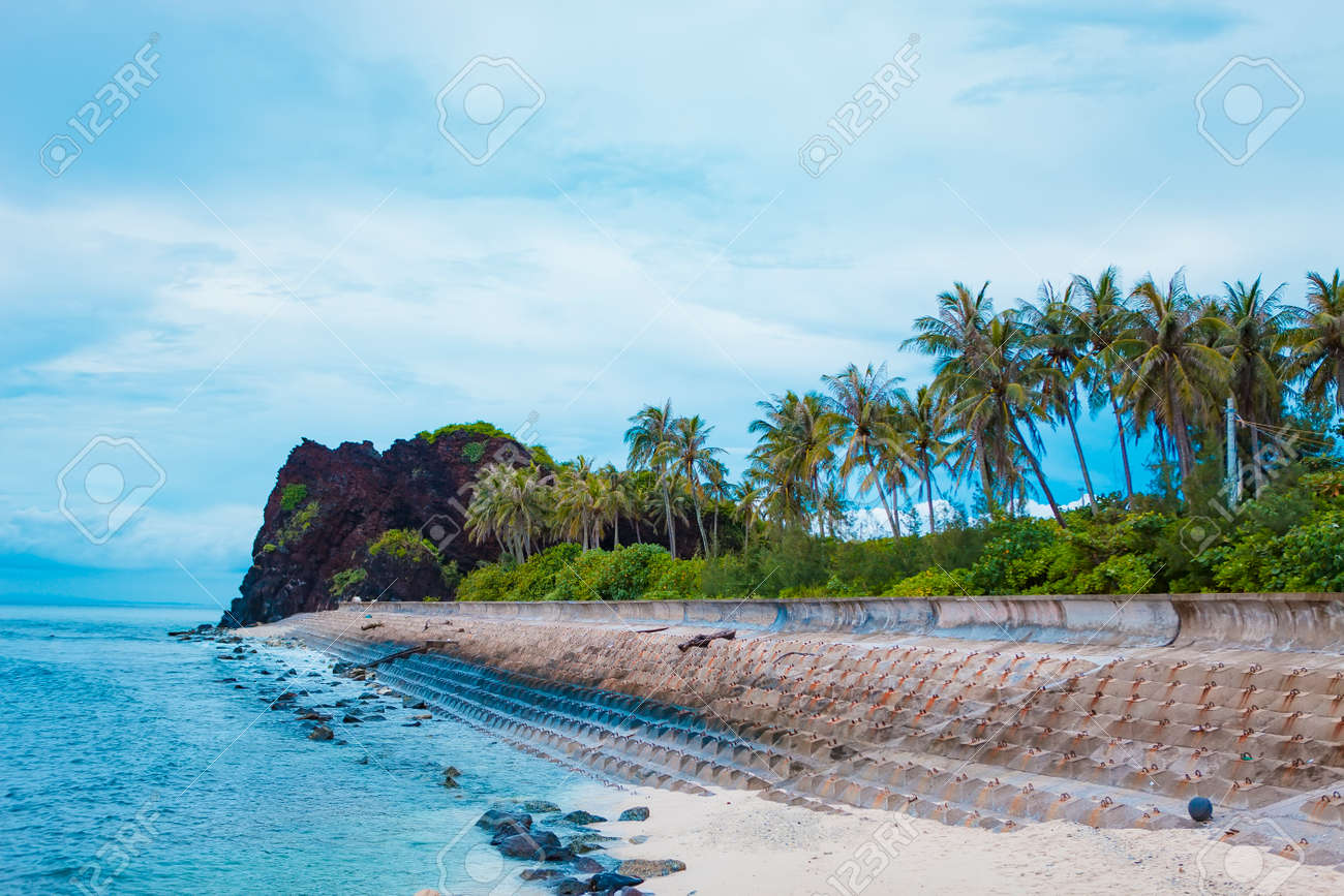Beach On Small Island In Ly Son Quang Ngai Vietnam Stock Photo Picture And Royalty Free Image Image 110798316