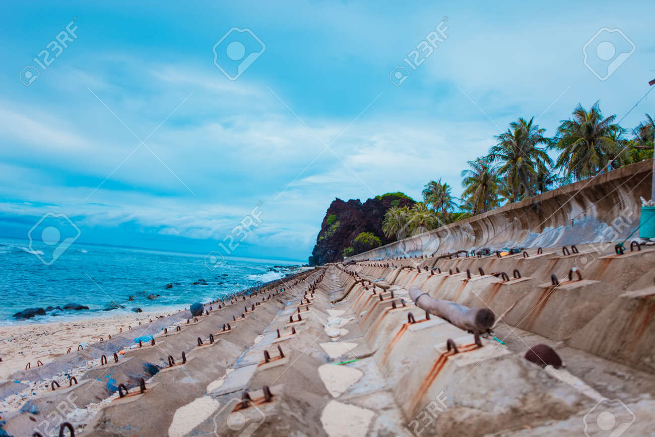 Beach On Small Island In Ly Son Quang Ngai Vietnam Stock Photo Picture And Royalty Free Image Image 109664695