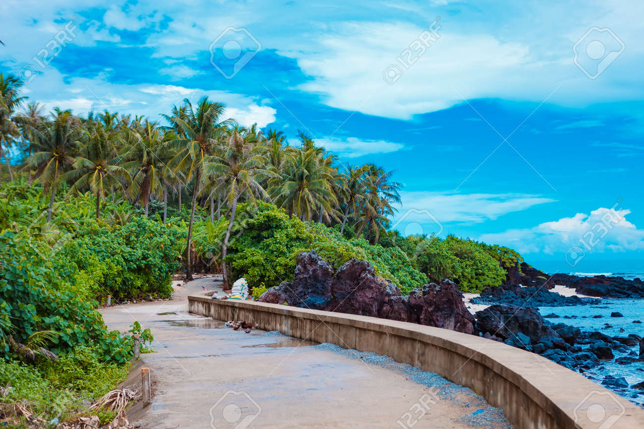 Beach On Small Island In Ly Son Quang Ngai Vietnam Stock Photo Picture And Royalty Free Image Image 108729439