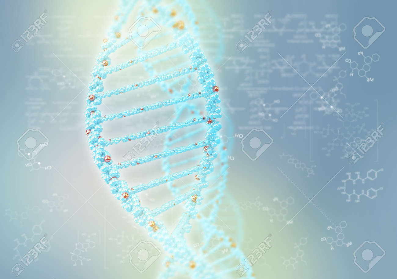DNA helix against the colored background, scientific conceptual background Stock Photo - 17514528