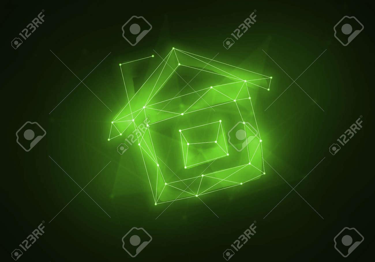 Dream home as night sky constellation on dark background - 61712954