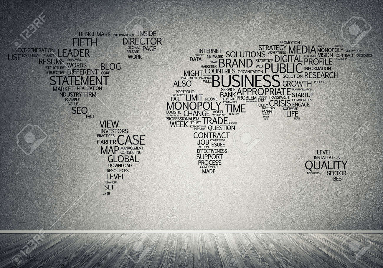 Concept of global business with world map on concrete wall on learn world map, power world map, production world map, people world map, use world map, textbook world map, ideology world map, school world map, excel dashboard world map, race world map, prayer world map, principle world map, culture world map, nature world map, game world map, time world map, love world map, policy world map, change world map, life world map,
