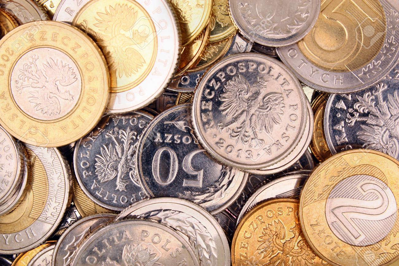 Polnisches Geld Münzen Für Hintergrund Lizenzfreie Fotos Bilder Und