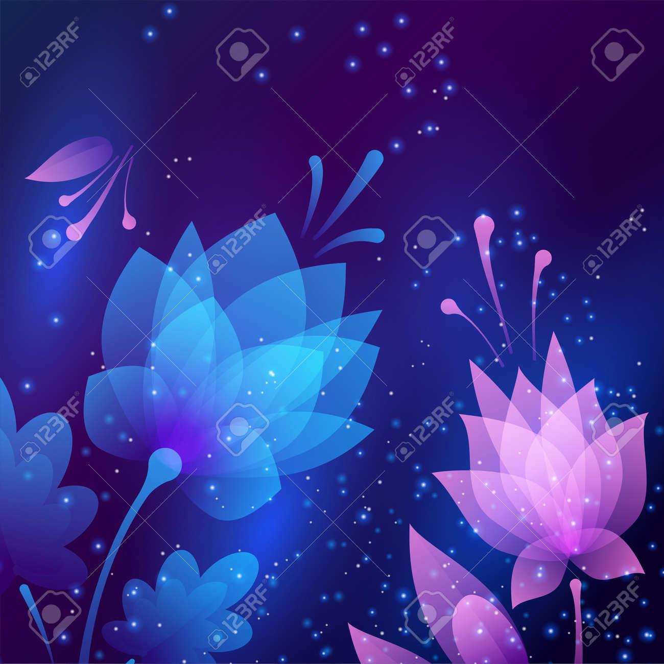 Beautiful futuristic night flowers abstract card illustration beautiful futuristic night flowers abstract card illustration stock illustration 98992933 izmirmasajfo