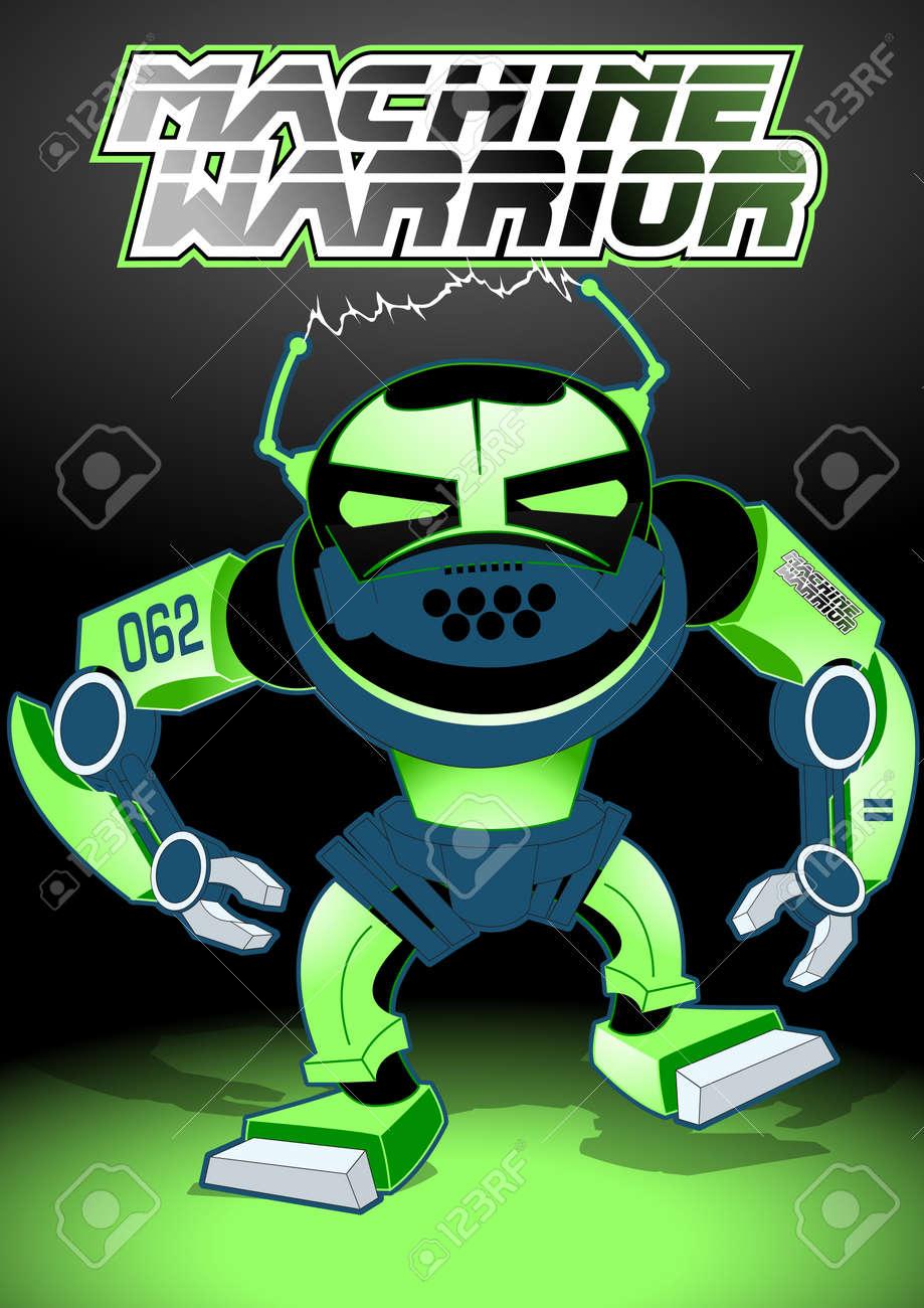 Machine warrior Stock Vector - 24958347
