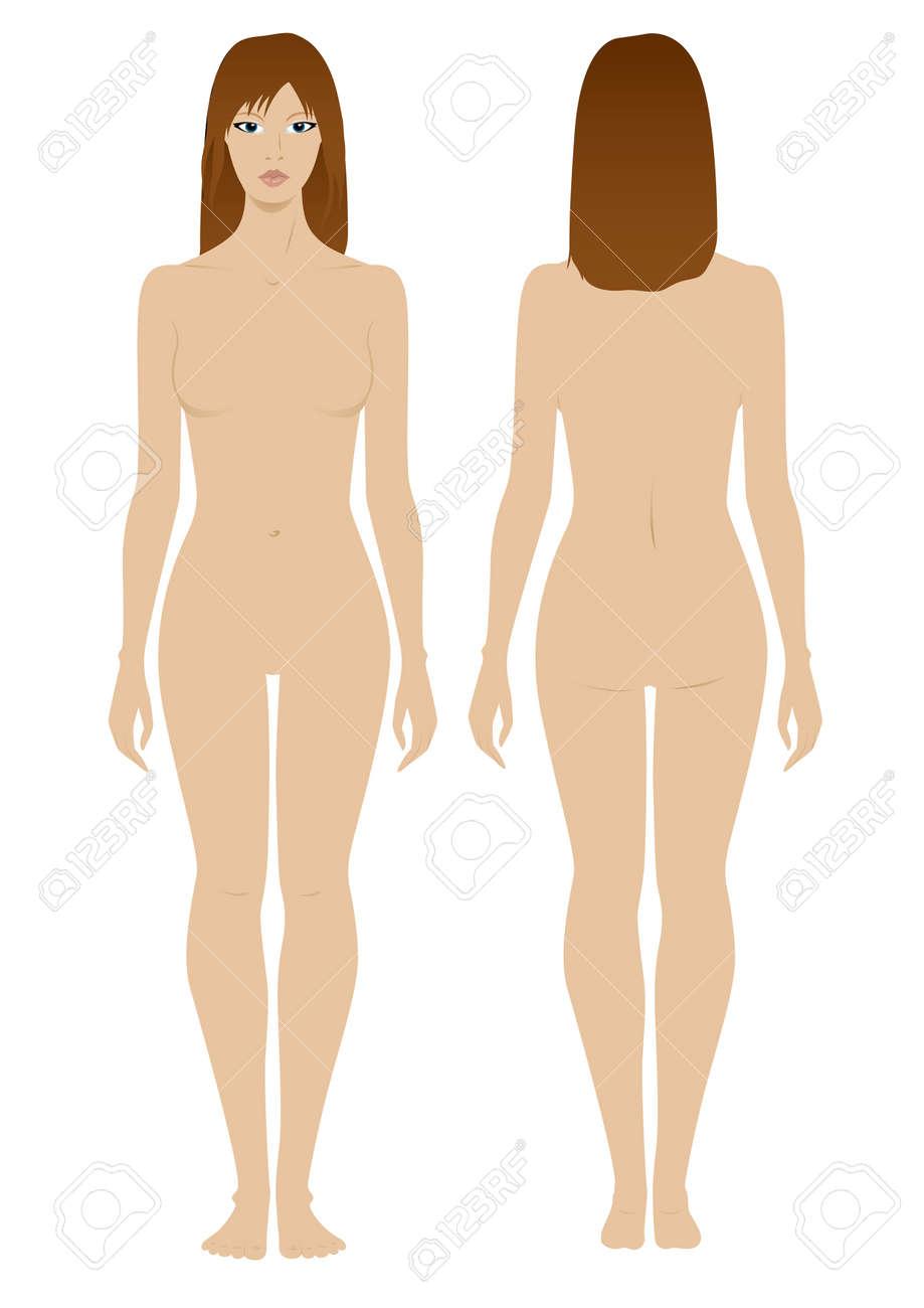 Plantilla Modelo Femenina Para El Diseño De Ropa De Moda ...