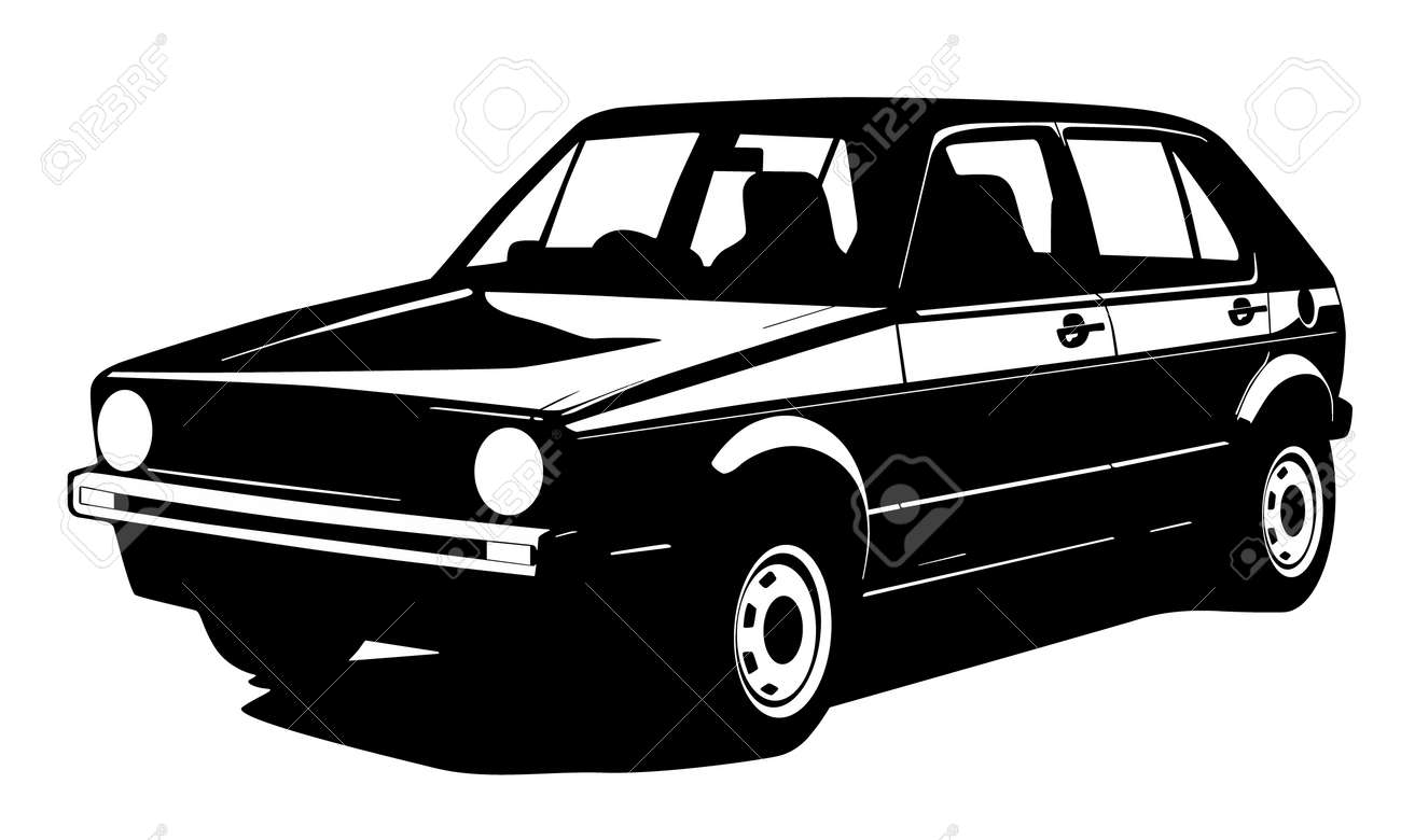 Old Car Silhouette Royalty Free Cliparts Vectors And Stock